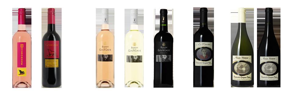 Gamme des vins du Domaine de la Gourgasse