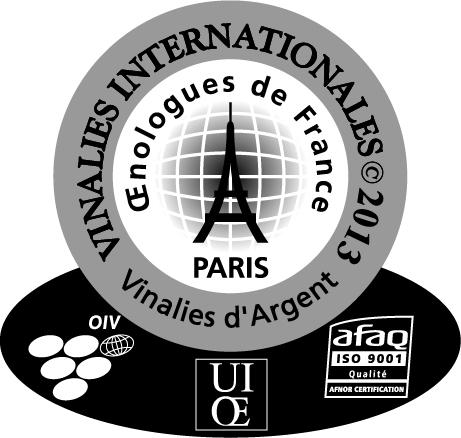 Médaille Argent Vinalies 2013