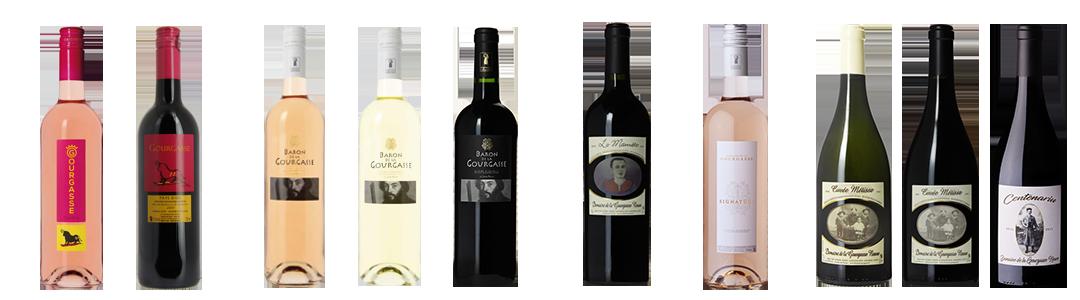 Gamme de vin du Domaine de la Gourgasse Neuve à Béziers