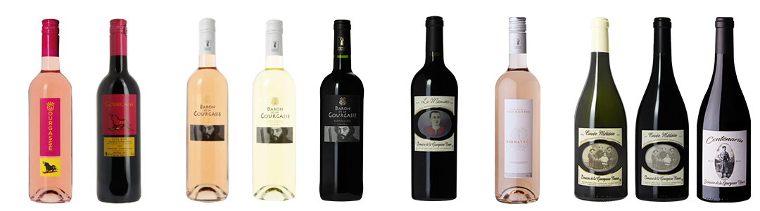 Gamme de vin du Domaine de la Gourgasse à Béziers